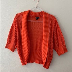 Torrid Pumpkin Orange Open Knit Cardigan Size 2